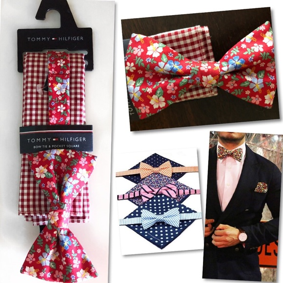 5281600306c0 Tommy Hilfiger Accessories   Floral Bow Tie Pocket Square   Poshmark